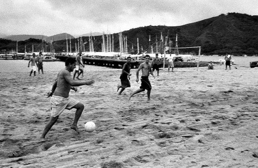Beach soccer is an intensely fun workout.