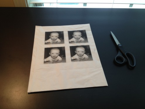 Print your images and allow plenty of time for the ink to dry before you cut and glue it to your canvas.