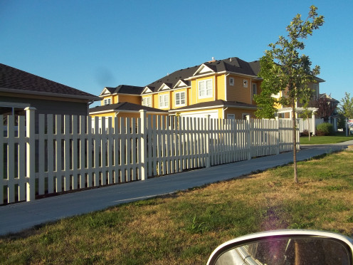Little yellow houses with picket fences for you and me...John Mellenkamp would have painted them pink.