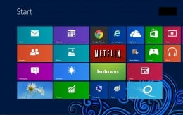 "Press the ""Ctrl"" and ""F"" keys at the same time while viewing the Windows 8 Start screen to open the Search screen."