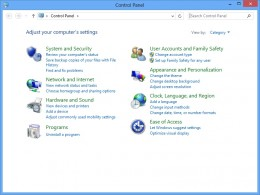 "Click ""User Accounts and Family Safety"" to open the User Accounts and Family Safety dialog box."