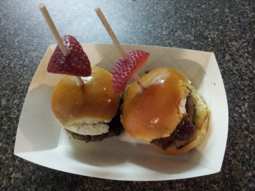 Sweet and Lowdown, a goat cheese and strawberry slider from Easy Slider food truck in Dallas, Texas