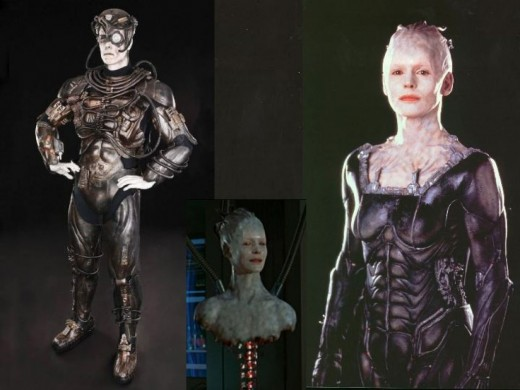 The Borg and Borg Queen (Alice Krige)