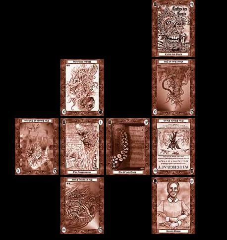 You can use the Celtic Cross if you would like to know the different aspects and development of a certain issue. The Lovecraft Tarot is used for this spread.