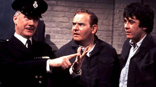 Porridge, Mr McKay gives Fletch and Godber some advice.