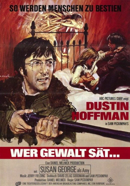 Straw Dogs (1971) German poster
