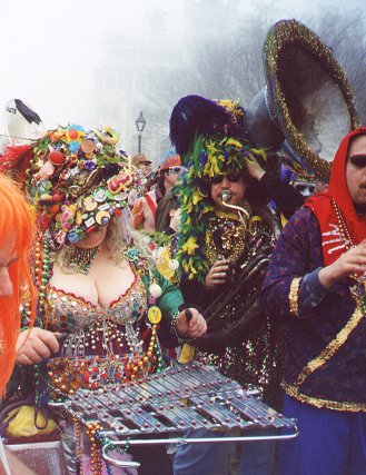 """Quite a few things get inverted in New Orleans at Mardi Gras, as this image suggests.  Perhaps chords are among them?  Photo by D.C.M. """"Infrogmation"""", of New Orleans, froggy@neosoft.com, courtesy Wikimedia Commons."""