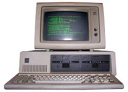 This IBM computer actually dates from the early 1980s, but the basic design remains the same.