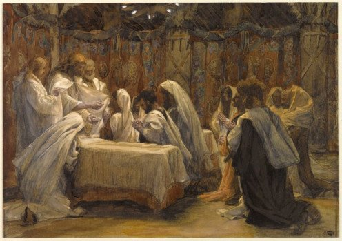 The Communion of the Apostles, by James Tissot (1836-1902)