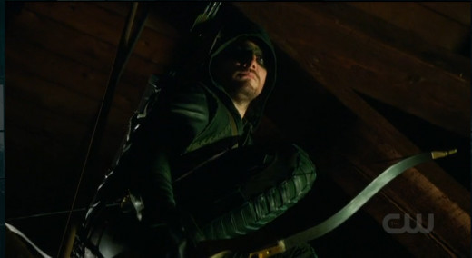 Stephen Amell is hard on criminals.