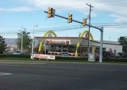 One of the McDonald's in Wilkes-Barre, PA, across from the Wyoming Valley Mall