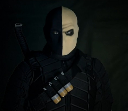 Even though they don't use his name, that is definitely Deathstroke.