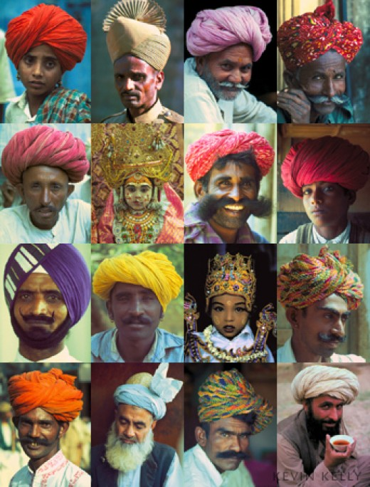 Different styles of turbans