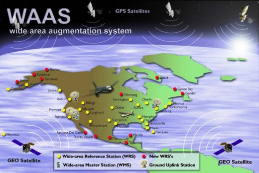 a map of the WAAS system