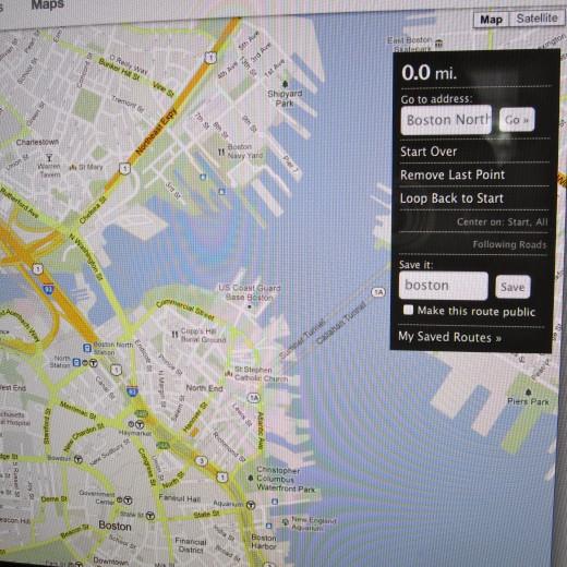 Screenshot of jog.fm maps.