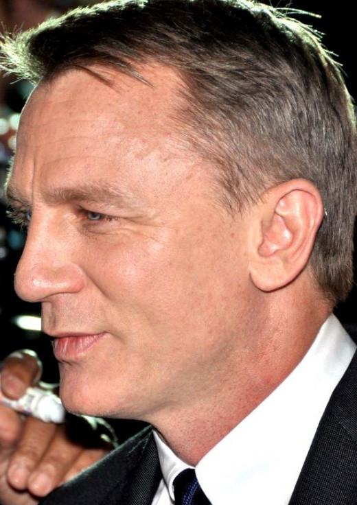 Daniel Craig at Skyfall's French premiere, 2012