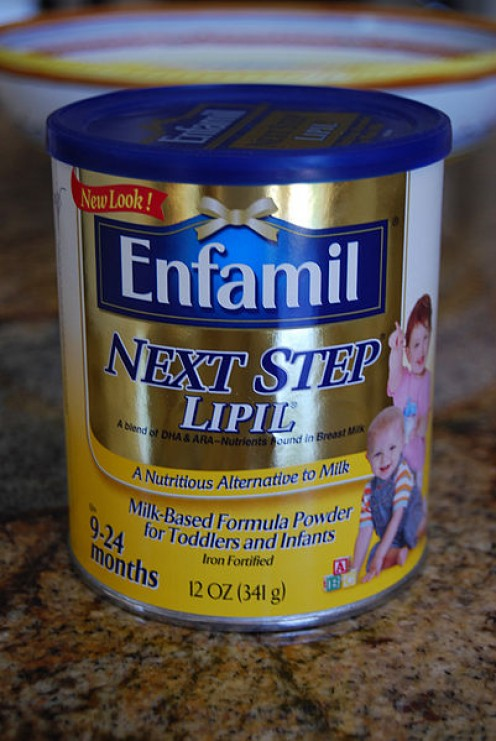 Enfamil was found to be contaminated with trace amounts of cyanuric acid, produced when melamine degrades, in 2008