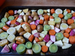 Winter vegetables fixing to get roasted