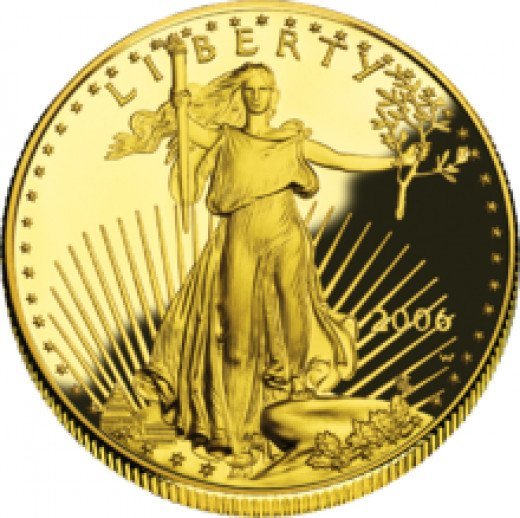 A Gold Liberty Coin 1 ounce