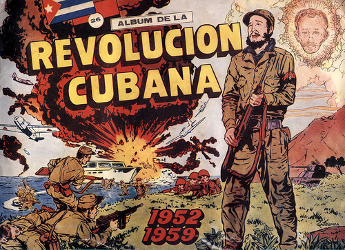 This poster represents the almost decade long first revolution in Cuba under Fidel Castro and Ernesto Che Guevara.