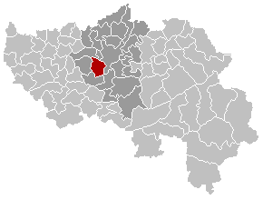 Map location of Séraing, Liège province