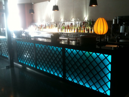 The Bar in House of Zen - Fabricated by NME NI