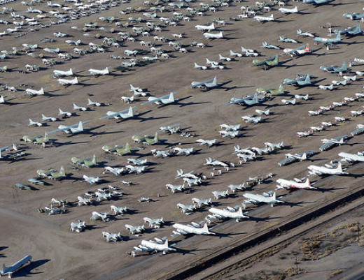 Mothballed aircraft in Arizona