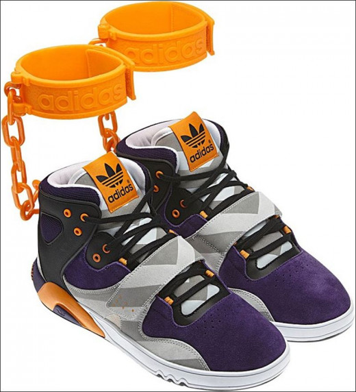 How about shoes with orange ankle cuffs? These were removed from the market by Adidas before they ever hit store shelves.