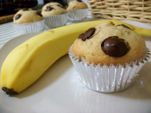 Dairy-Free and Vegan Banana Chocolate Chip Muffins