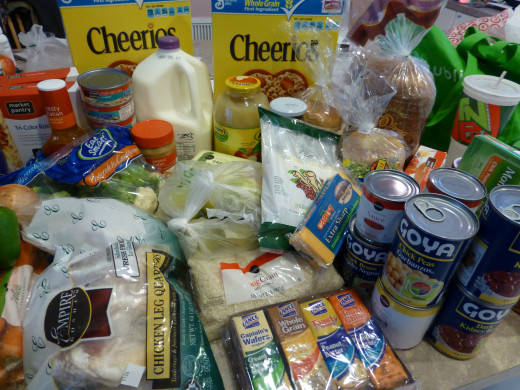 Our week's worth of food during the Food Stamp Challenge