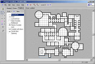 Several third-party programs are available to help build dungeons like this one called Z-Mapper.