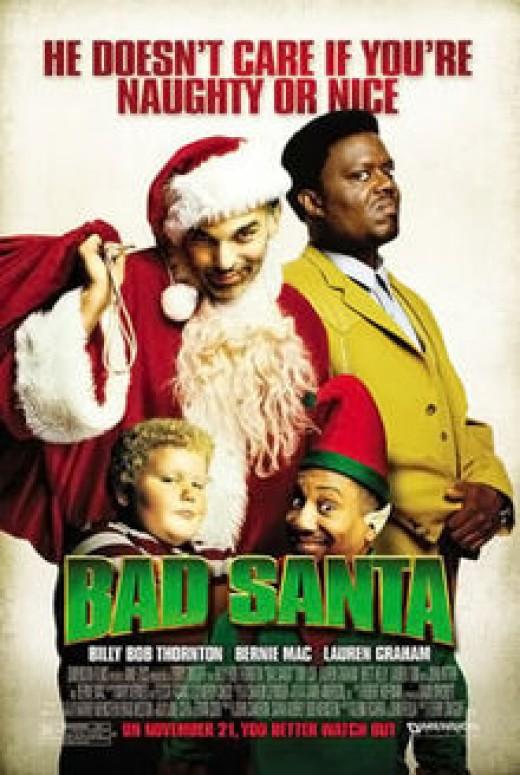 """""""Bad Santa"""" poster"""