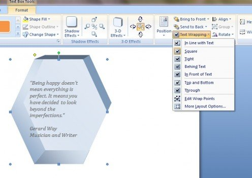 how to create text boxes in word
