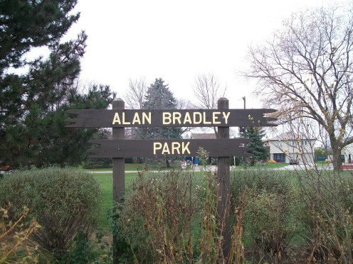 Alan Bradley Park sign, Mississauga