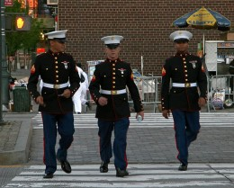 I hope it's ok to copy this photo from http://newyorkdailyphoto.blogspot.com/2008/05/men-in-uniform.html