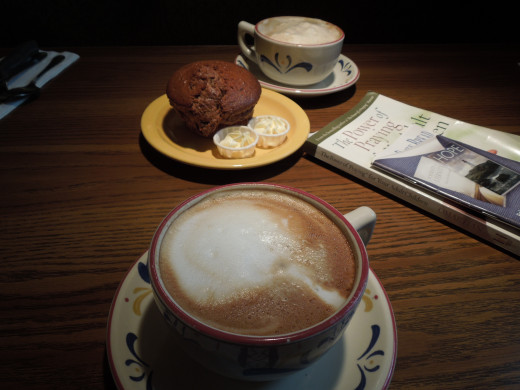 Cafe Latte and Muffins