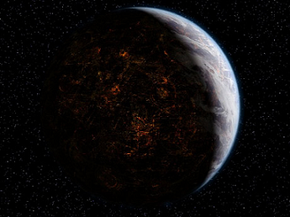 The planet of Coruscant, is the capital of the Republic. Virtually the entire planet's surface is covered in a city.