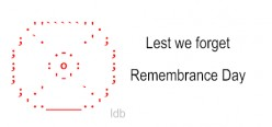 Remembrance Day Poppy ASCII Text Art