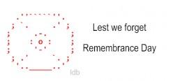 Remembrance Day Poppy ASCII Text Art