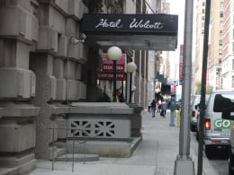 Street View of the Hotel Wolcott entrance