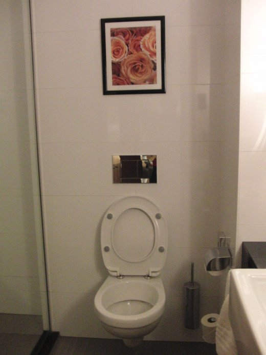 Toilet at Courtyard by Marriott in Budapest