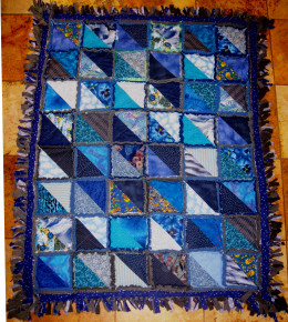 Make rag quilts to use up fabric scraps.