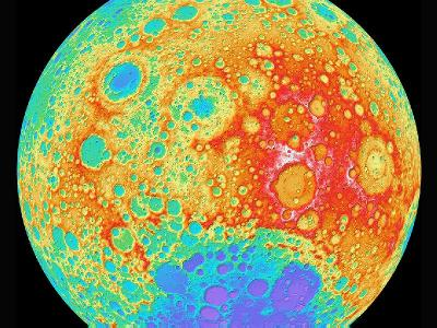 NASA recent high tech mapping of the moon.