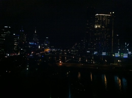 Melbourne and Southbank from our Hotel room