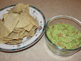 fresh and green guacamole looks appetizing