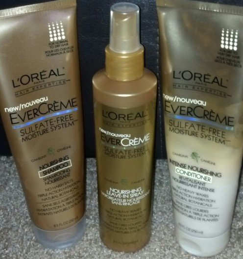 L'Oreal EverCreme Sulfate-Free Moisture System Products!