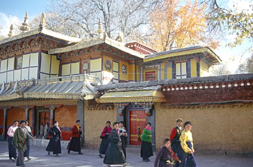 The Nrbulingka- summer residence of the Dala Lamas