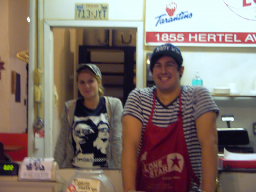 Counter clerks.  (FYI, I don't know them or the owners.  They were just kind enough to allow me to take photos.)