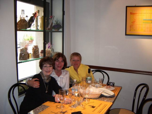 Sandy, myself and Louise  - lunch at Montalcino