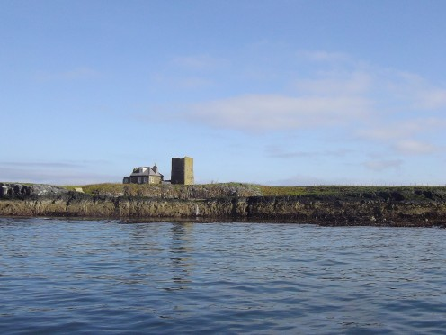 Isolated wardens house on the Farne Islands